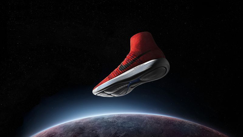 Nike, sneakers, space (horizontal)