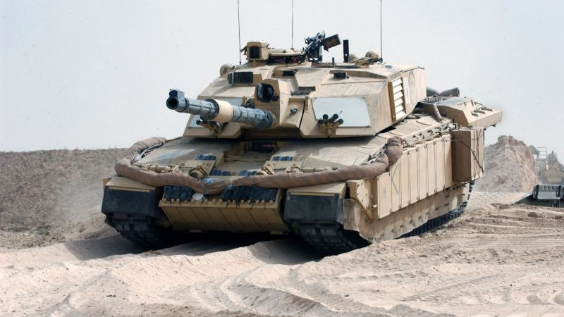 Challenger 2, FV4034, MBT, tank, British Army, United Kingdom, armoured, desert (horizontal)