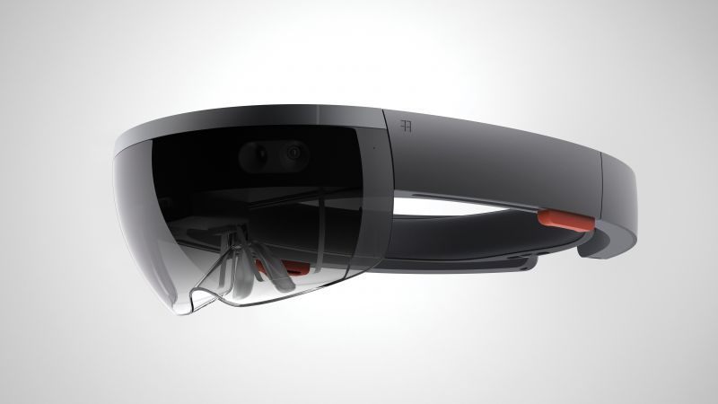 Microsoft HoloLens, A.R. headset, Windows 10, virtual reality (horizontal)