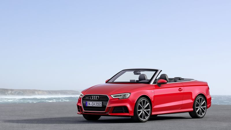 Audi A3, cabriolet, red (horizontal)
