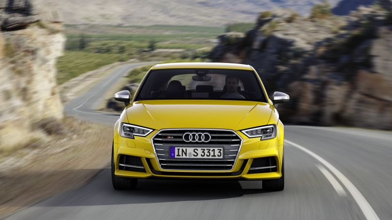 Audi S3, cabriolet, yellow (horizontal)