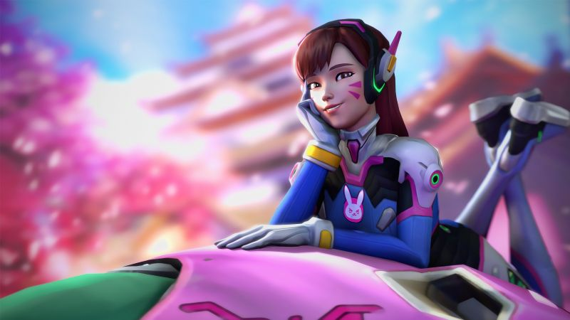 DVa, HD, 4k, OVERWATCH, D.Va (horizontal)