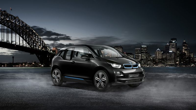 "BMW i3 ""Carbonight"", electric cars, city cars, black (horizontal)"