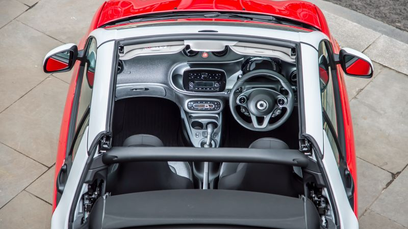 Smart fortwo passion cabrio, cabriolet, interior (horizontal)