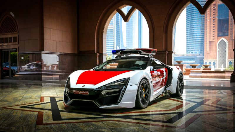 Lykan hypersport, police car, police (horizontal)