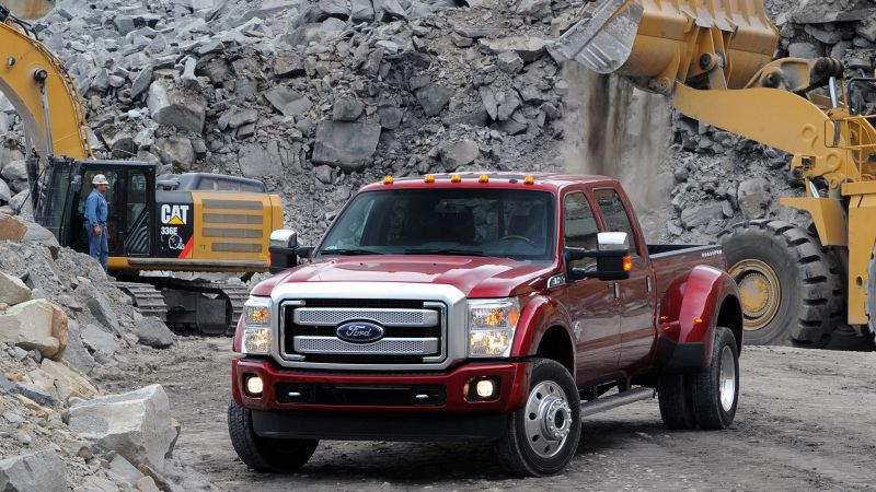 ford f450, super duty platinum, crew, cab, red (horizontal)