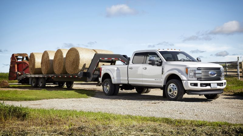 ford f450, super duty platinum, crew, cab, white (horizontal)