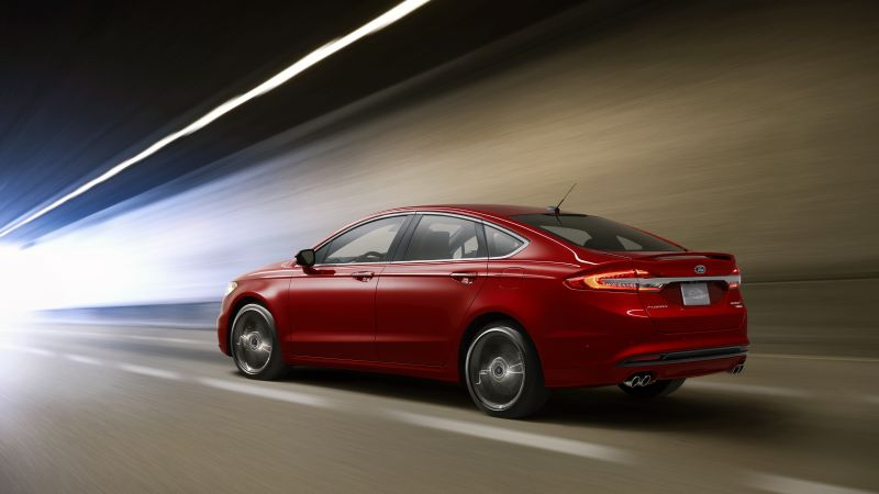 Ford Fusion V6 Sport, sedan, red (horizontal)
