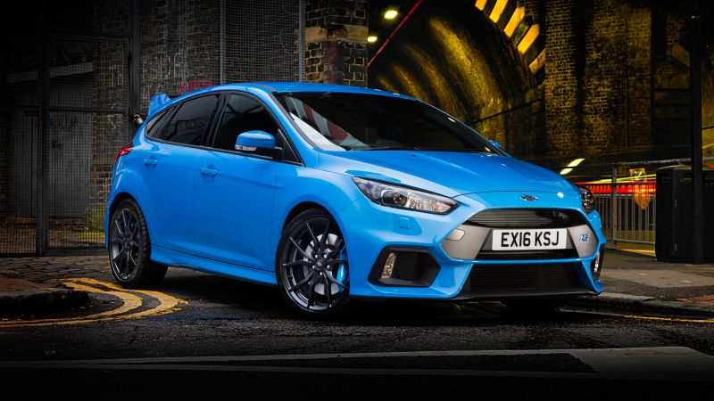 Ford Focus RS, hatchback, blue (horizontal)