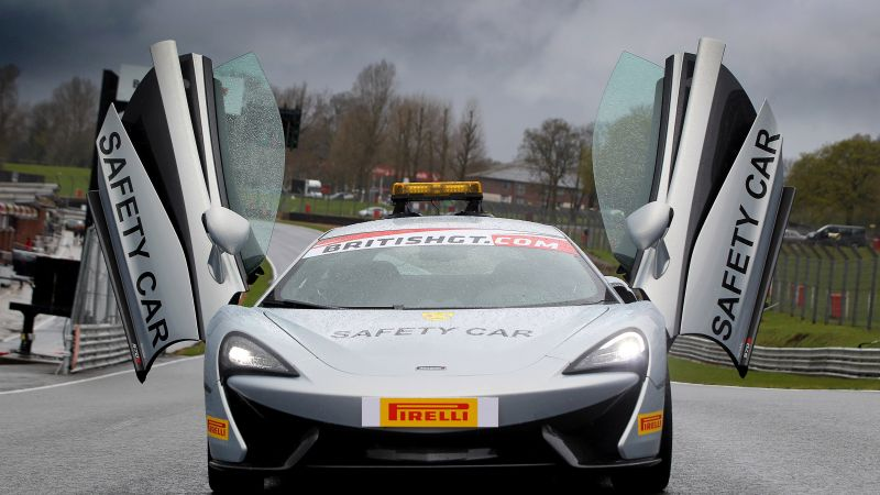 McLaren 570S, supercar safety car (horizontal)