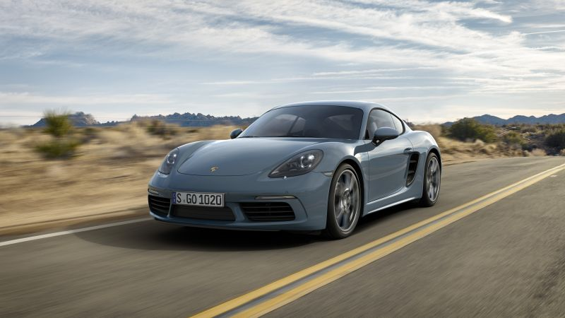 Porsche 718 Cayman, Beijing Motor Show 2016, Auto China 2016, coupe, grey (horizontal)
