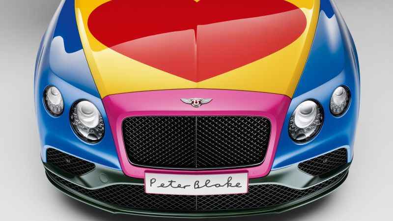 Bentley Continental GT, pop art, Peter Blake, cabriolet, hurt (horizontal)