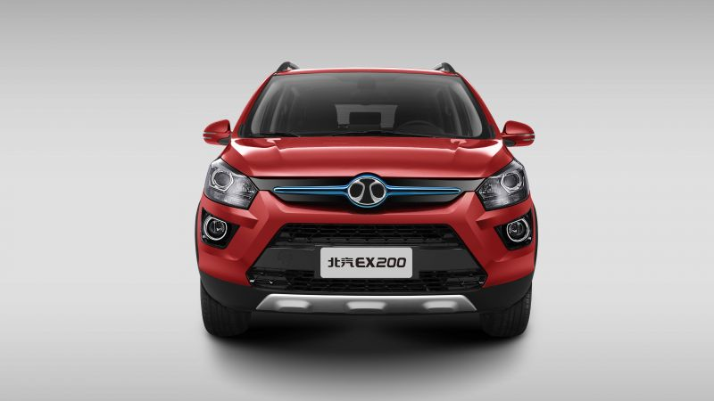 Senova EX200, electric cars, crossover, red (horizontal)