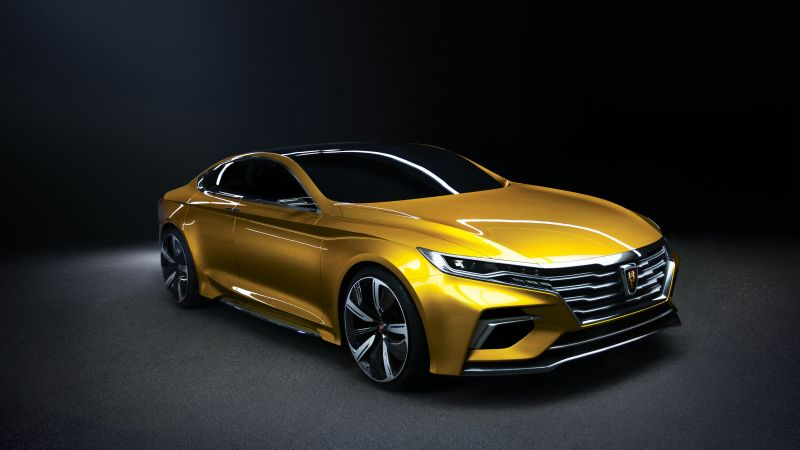 Roewe Vision-R, sedan, yellow (horizontal)