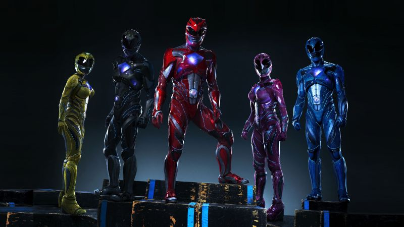 Power Rangers, team, superhero (horizontal)