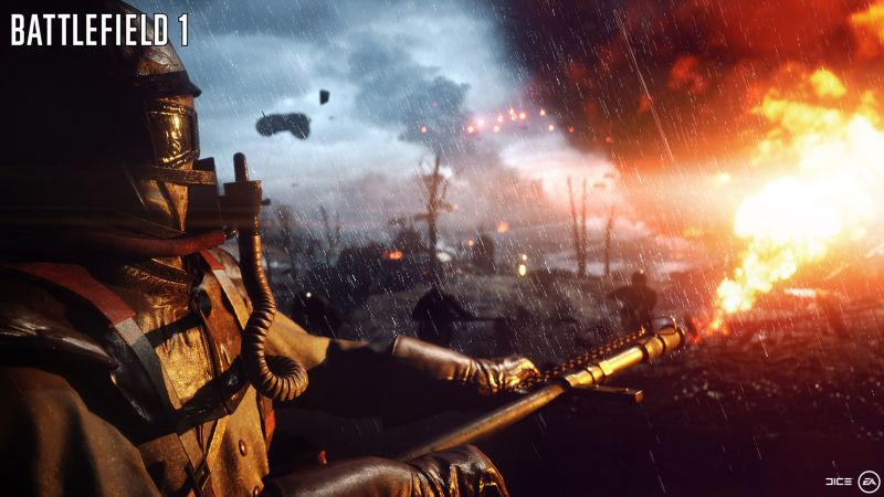 Battlefield 1, flamethrower, best games of 2016, shooter (horizontal)