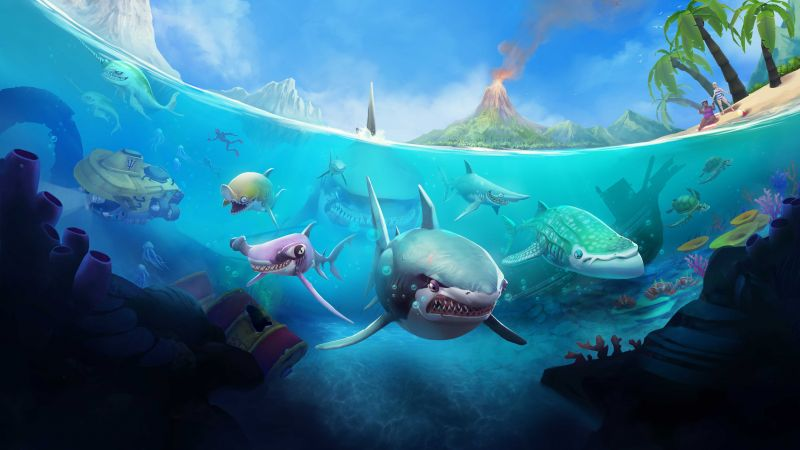 Hungry Shark World, iOS, Android, shark (horizontal)