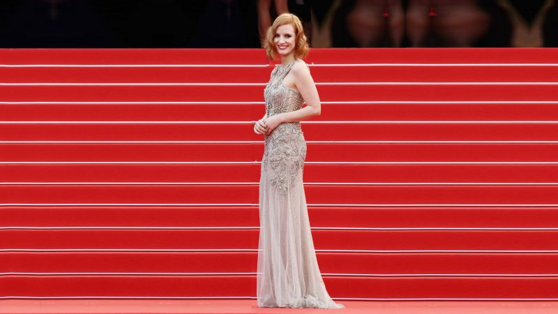 Jessica Chastain, Cannes Film Festival 2016, red carpet (horizontal)