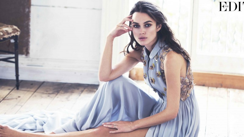 Keira Knightley, Actress, brunette, dress, look, room, interrior, Pirates of the Caribbean (horizontal)