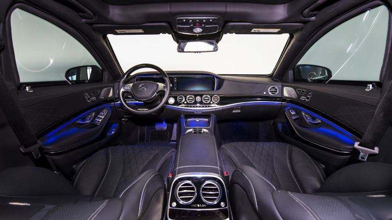 Mercedes-Maybach S 600, INKAS, luxury cars, armored car, interior (horizontal)