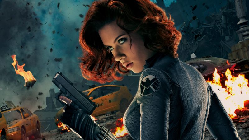 BLACK WIDOW, Scarlett Johansson, Captain America 3: civil war, Marvel, best movies of 2016 (horizontal)