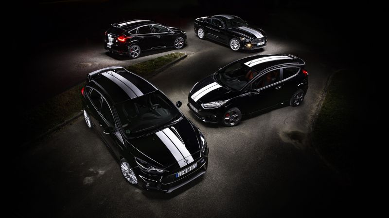 "Ford Focus RS ""Le Mans 50th Anniversary"", limited edition, Le Mans, black (horizontal)"