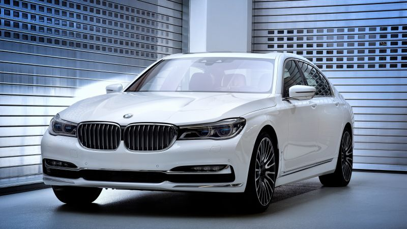 BMW 750Li xDrive Solitaire, luxury car, white (horizontal)