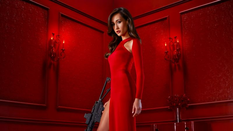 MAGGIE Q, red dress, l ook, Most popular celebs (horizontal)