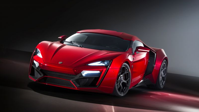 Lykan HyperSport, supercar, W Motors, sports car, speed, red (horizontal)