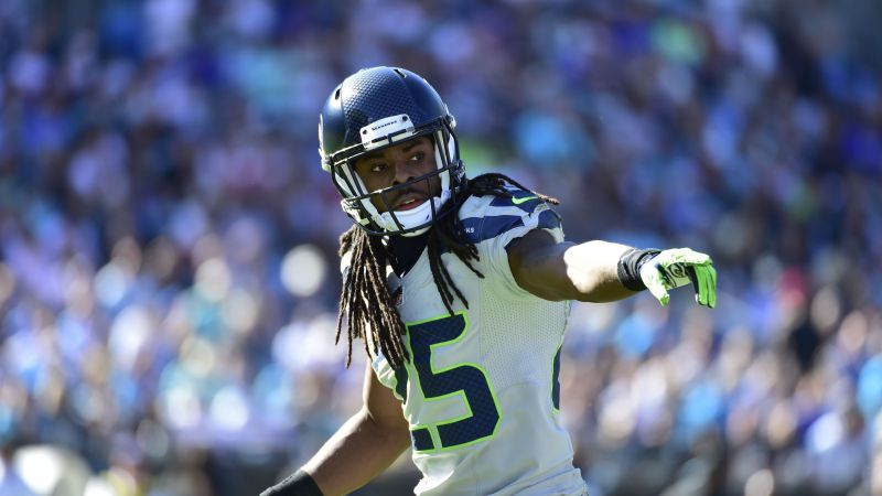 Richard Sherman, American football, NFL, Seattle Seahawks (horizontal)