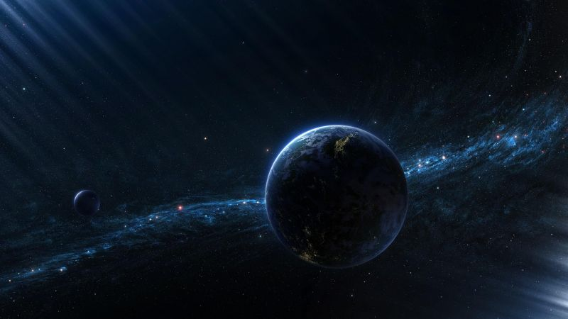 exoplanet, galaxy, space, stars (horizontal)