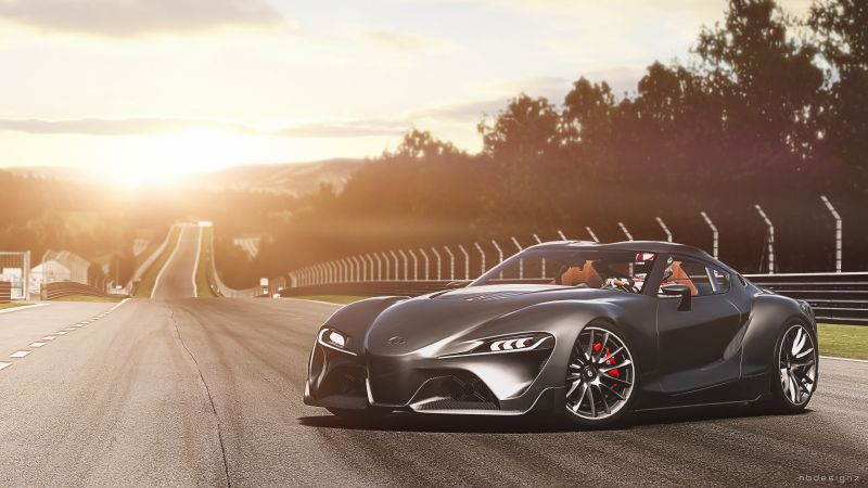 Toyota FT-1, hypercar, supercar (horizontal)