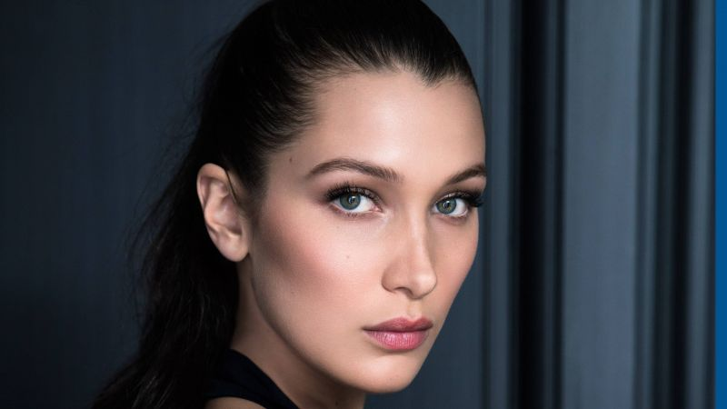 Bella Hadid, face, Most popular celebs, actress, model (horizontal)