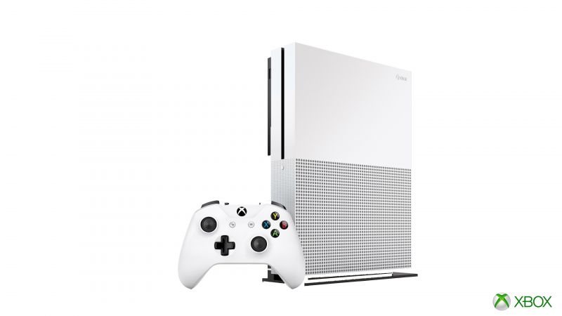 Xbox One S, white (horizontal)