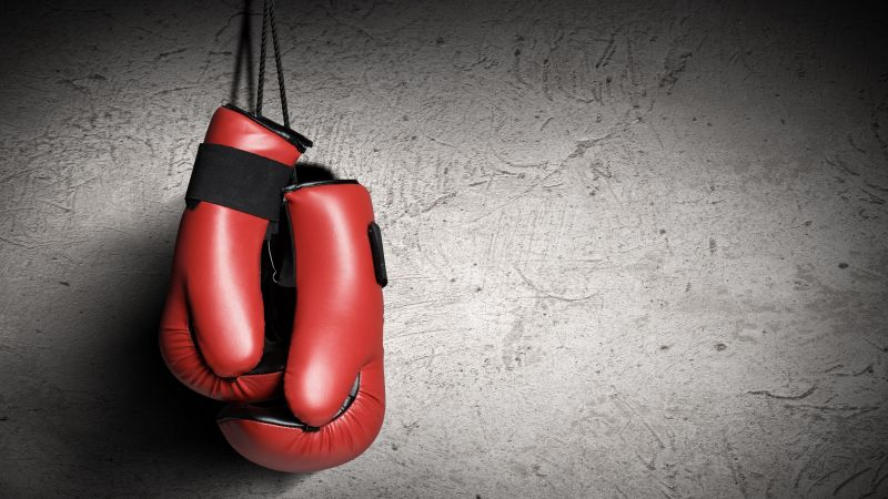 Boxing gloves, red, boxing (horizontal)