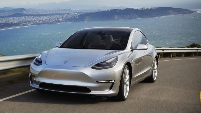 Tesla Model 3 Prototype, electric cars, sedan, Elon Musk (horizontal)