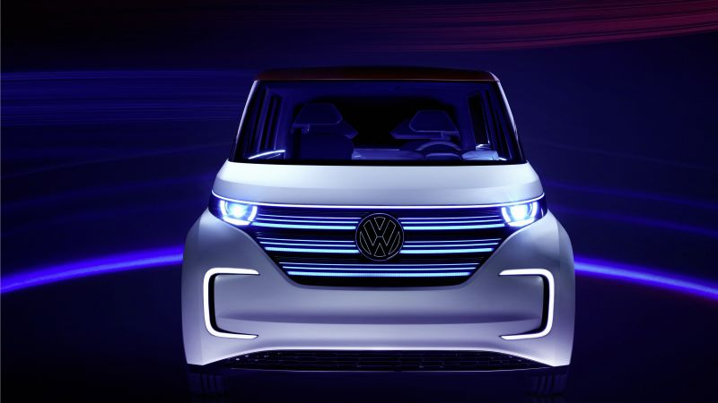 Volkswagen BUDD e, CES 2016, electric, electric cars, microbus, silver (horizontal)