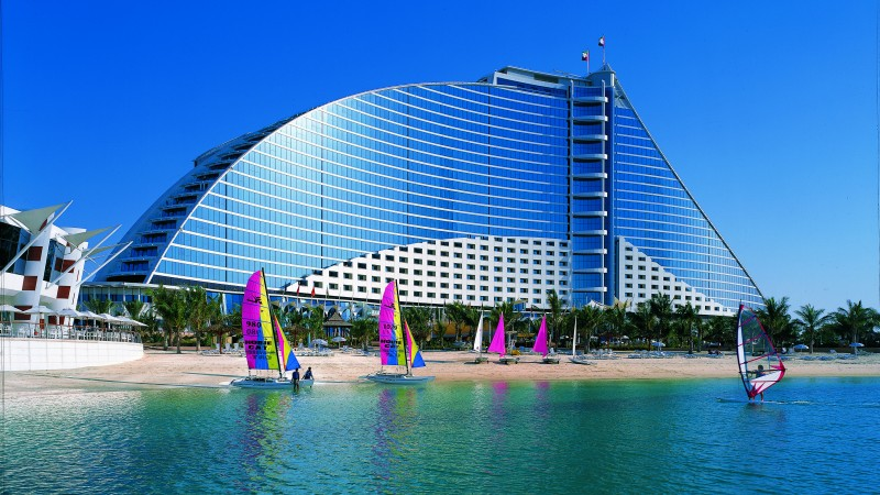Jumeirah Beach, Dubai, Hotel, sea, ocean, water, sunny day, travel, vacation, booking, beach, sand, resort (horizontal)
