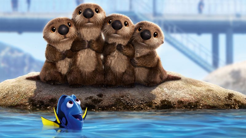 Finding Dory, beavers, nemo, fish, animation (horizontal)