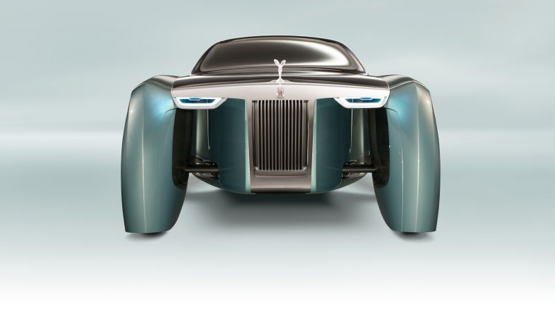 Rolls-Royce Vision Next 100, future cars, futurism, silver (horizontal)
