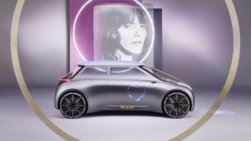 Mini Vision Next 100, future cars, futurism, silver (horizontal)