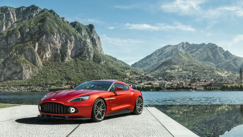 Aston Martin Zagato, red, supercar, Zagato (horizontal)