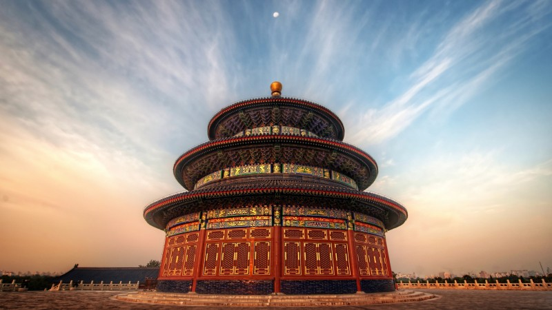The Temple Of Heaven, China, sky, clouds, sunset, sunrise, travel, booking, vacation (horizontal)