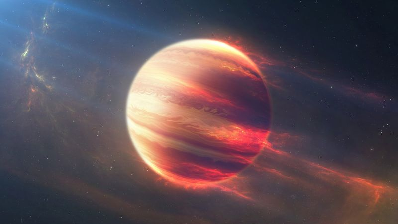 Space Fire Planet, Exoplanet, Planet, space, stars (horizontal)