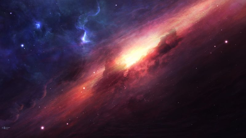 art, space, galaxy, universe, stars (horizontal)