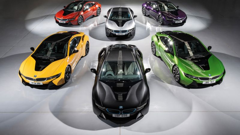 Bmw i8, individual color collection, supercar (horizontal)