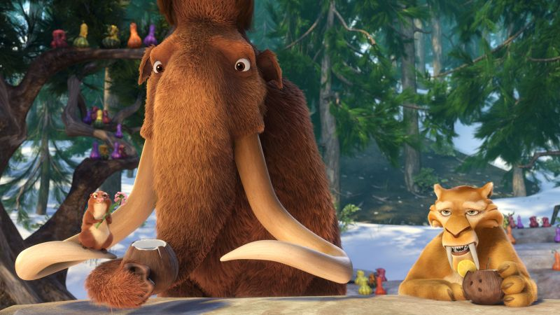 Ice Age 5: Collision Course, sid, mammoths, best animations of 2016 (horizontal)