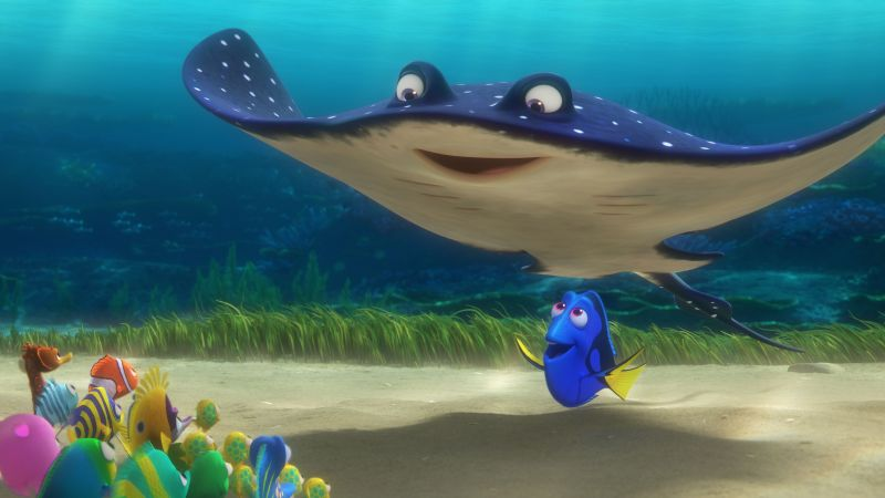 Finding Dory, nemo, ramp, fish, Pixar, animation (horizontal)