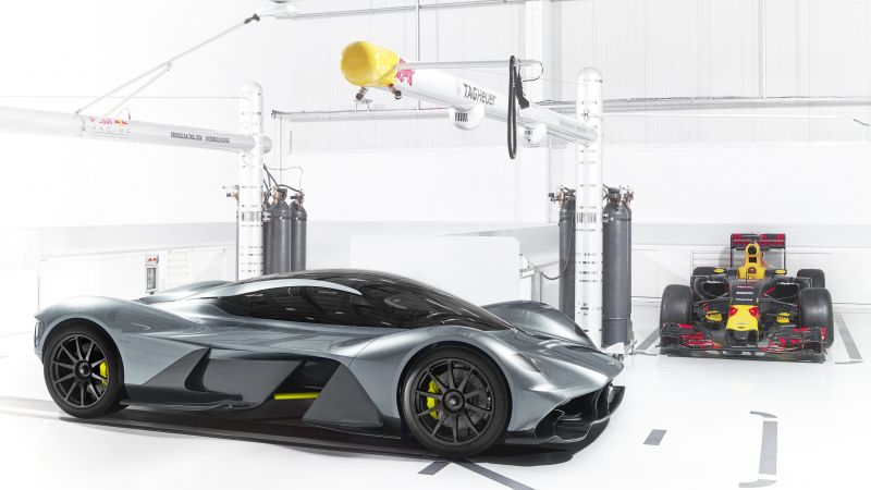 Aston Martin AM-RB 001, Red Bull, hypercar, silver (horizontal)