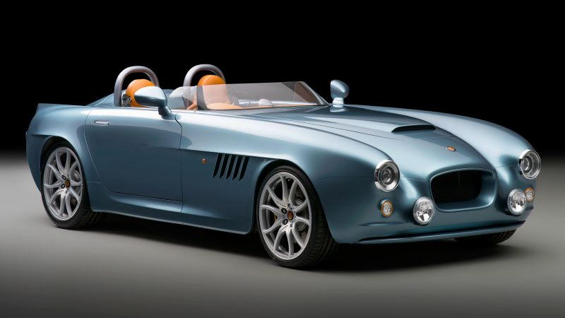 Bristol Bullet, speedster, roadster, supercar, blue (horizontal)